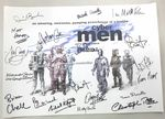 Cyberman, 'Let's Invade Earth', A3 Poster 18 Genuine Autographs, rare  COA 10076